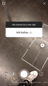 Beispiel - Fragen Instagram Story