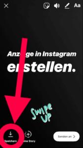 Instagram Screenshot: Storyvideo speichern