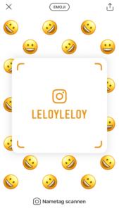 Screenshot: Instagram Nametag - Design: Emoji