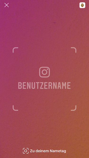 Screenshot: Instagram Nametag Scanner