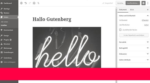 Gutenberg – so funktioniert der neue WordPress Editor (Anleitung Teil I)