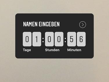 Instagram Screenshot - Countdown Sticker in der StoryInstagram Countdown Sticker in der Story