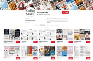 Stellenmarkt auf Pinterest