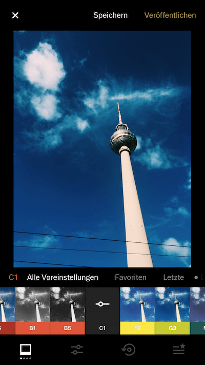 Screenshot Handy-App: VSCO
