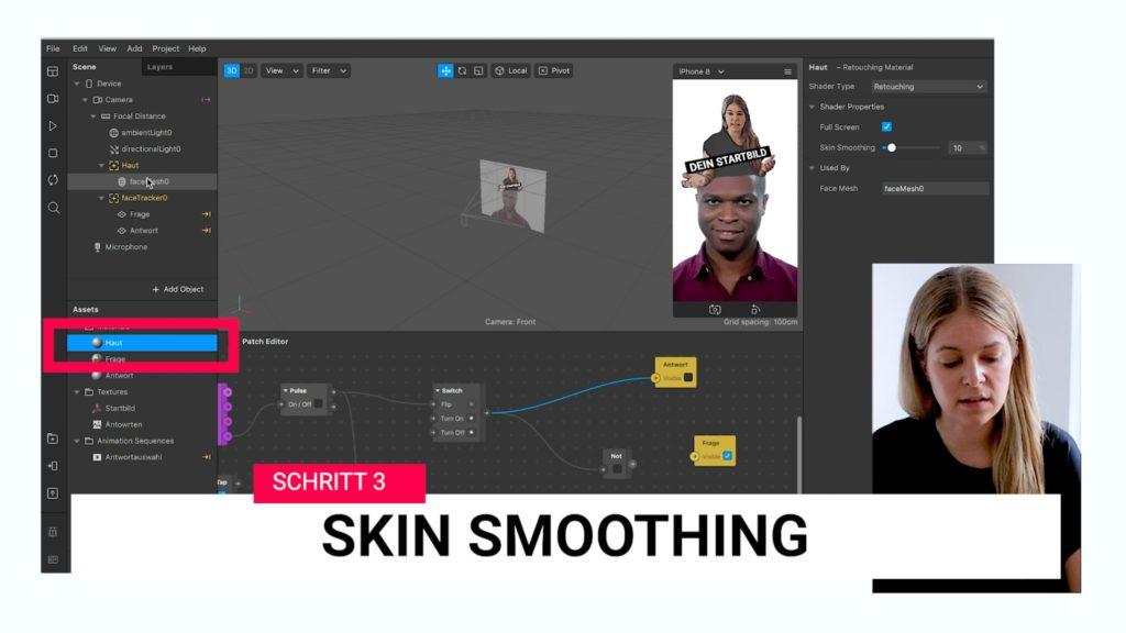 Schritt 3 - Skin Smoothing