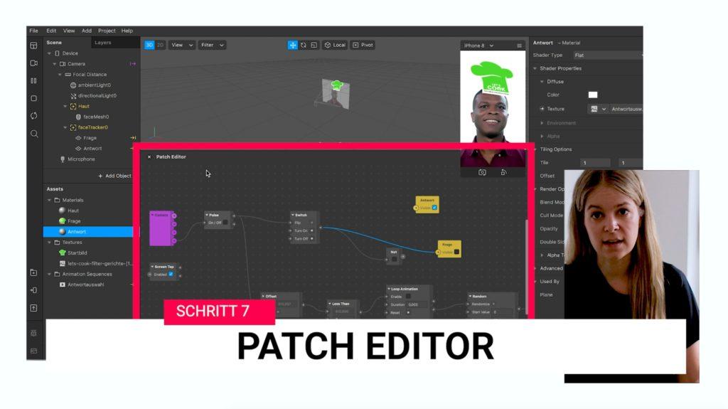Schritt 7 - Anpassungen im Patch Editor