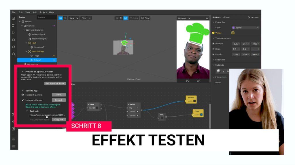 Schritt 8: Effekt testen