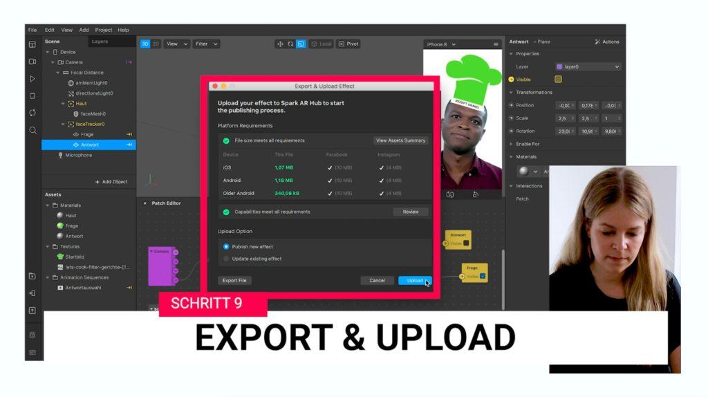 Schritt 9: Export & Upload