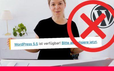 WordPress Webseite zerstört nach Update auf WordPress 5.5 – Was tun?
